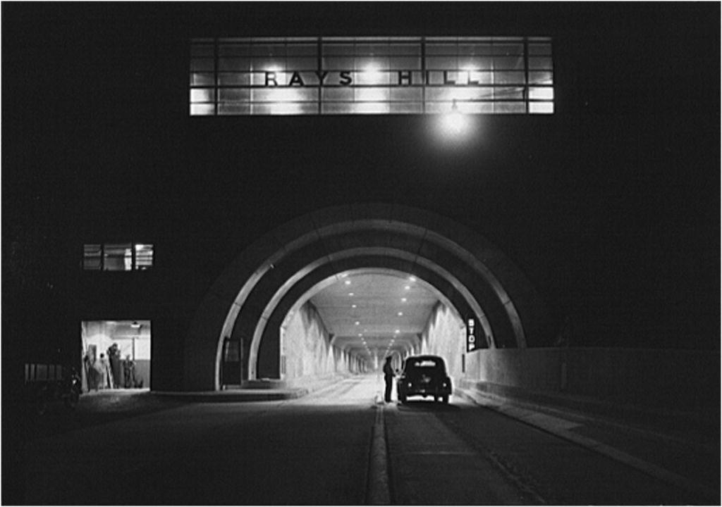 """Rays Hill Tunnel At Night,"" Arthur Rothstein"