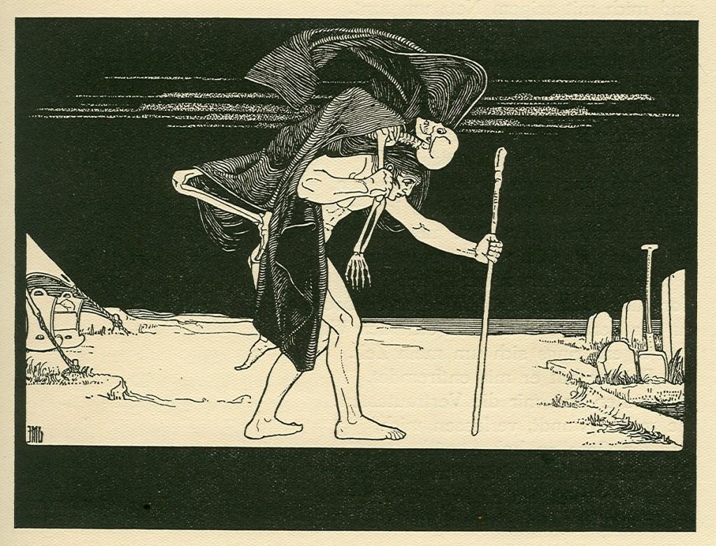 """Dybbuk"" by Ephraim Moshe Lilien."